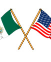 Mexican and American Flags