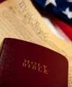 Bible, Constitution, Flag